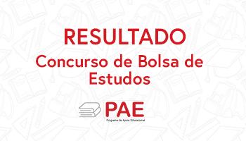 Imagem da Notícia Resultado concurso de bolsas de estudos PAE