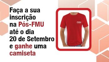 Imagem da Notícia Quer ganhar uma camiseta da Pós-FMU?